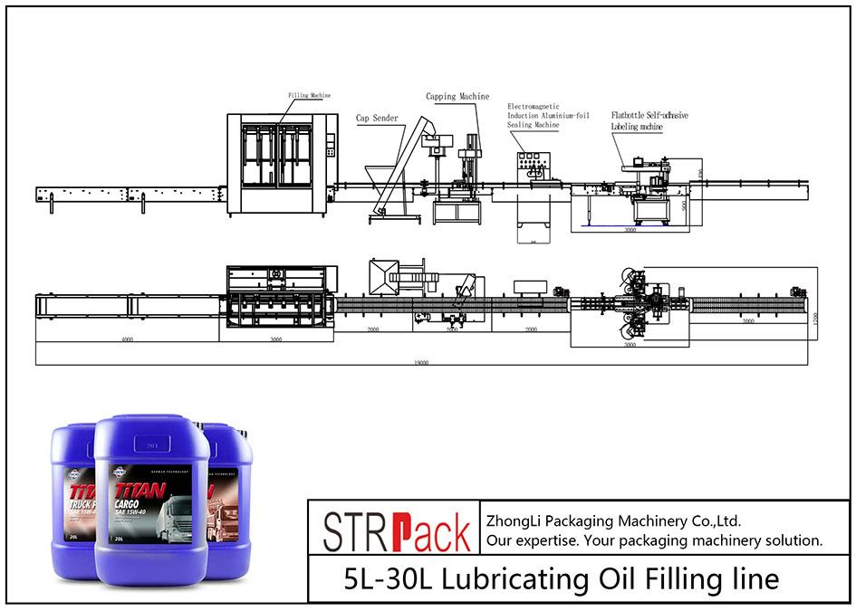 自動5L-30L潤滑油充填ライン