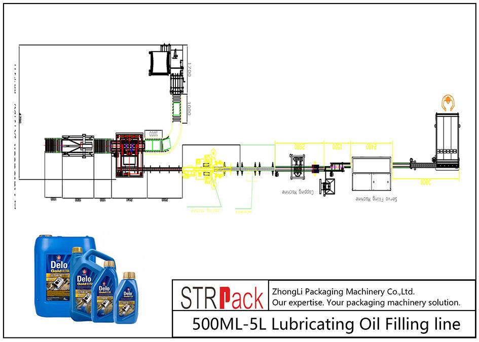 自動500ML-5L潤滑油充填ライン