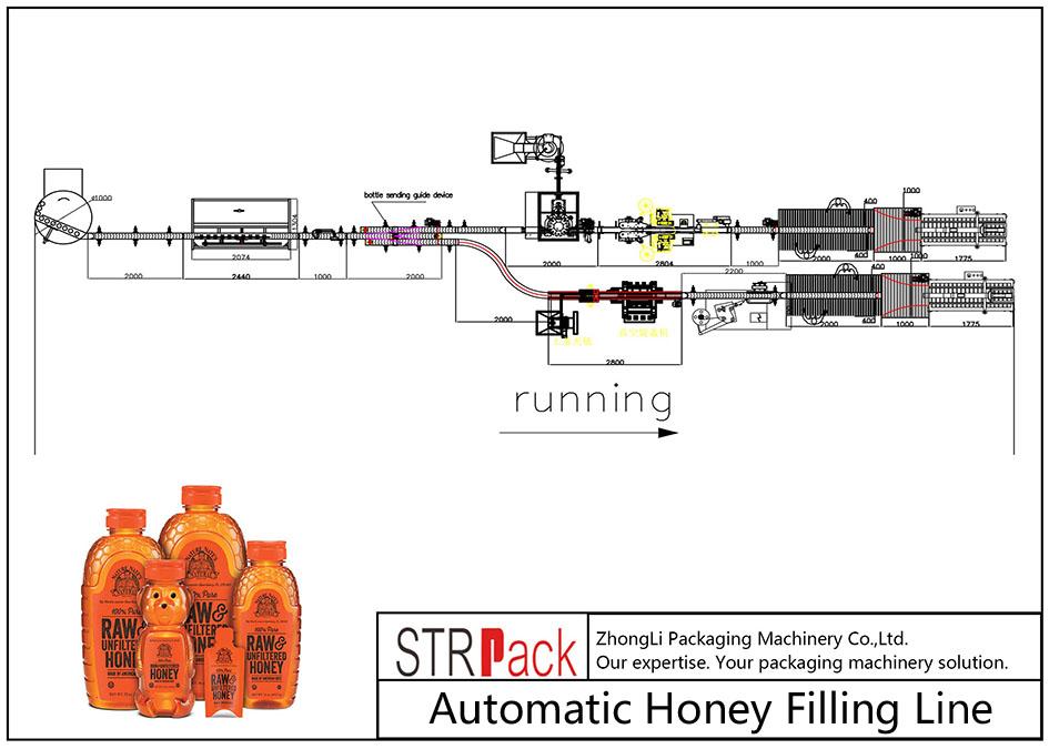 自動蜂蜜充填ライン