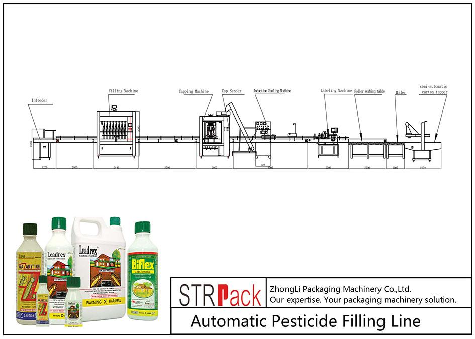 自動殺虫剤充填ライン