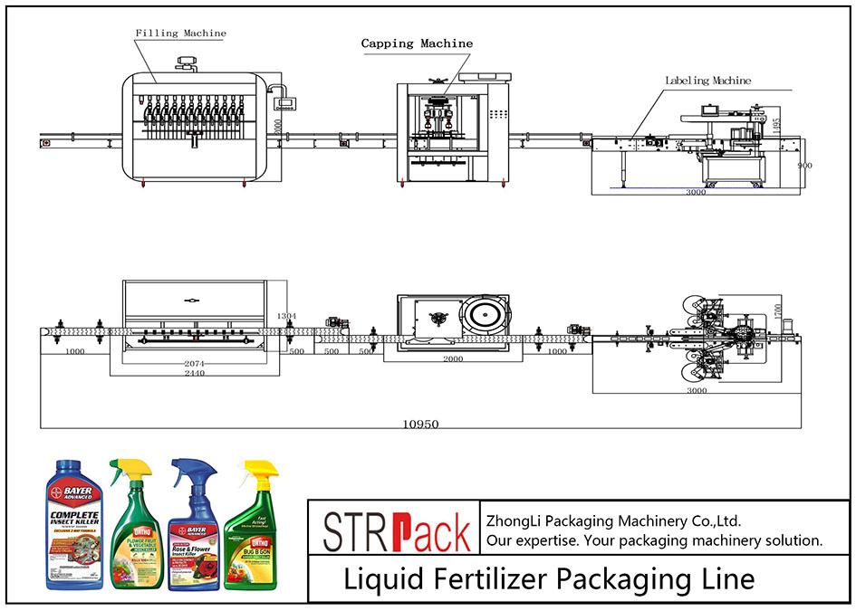 自動液体肥料包装ライン