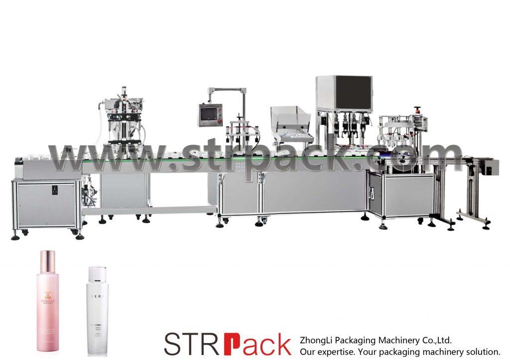 自動水エマルジョン充填およびキャッピングマシン